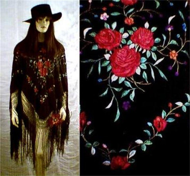 SALE Flamenco~ Silk Embroidered Poncho Top FREE WORLDWIDE SHIPPING!