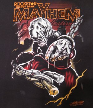 Rockstar MAYHEM 2009 Festival Tour Shirt. XL