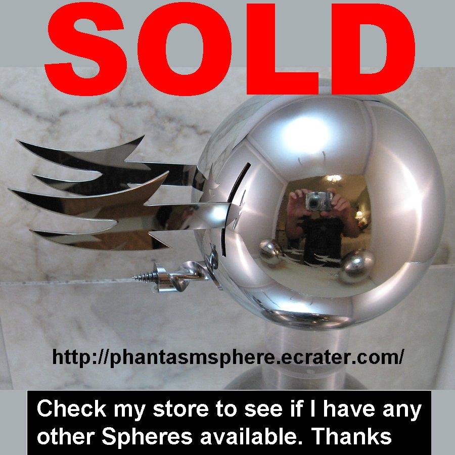 Metal Phantasm Sphere Ball Prop Replica Part 3 Ald