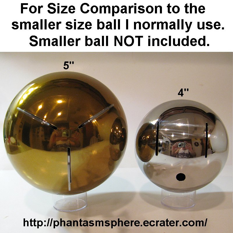 Big 5 11 Scale Gold Phantasm Sphere Metal Ball Prop Replica Tall Man