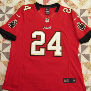 Tampa Bay Buccaneers Jersey, Womens or Girls Large. Red #24 Revis, Sewn