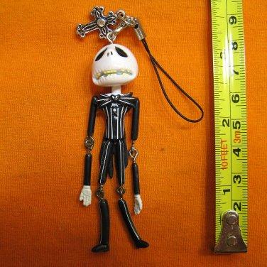 Jack Skellington Figure ornament, keychain swing decoration. Worried Face