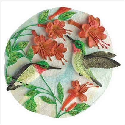 #39674 Hummingbirds Garden Plaque