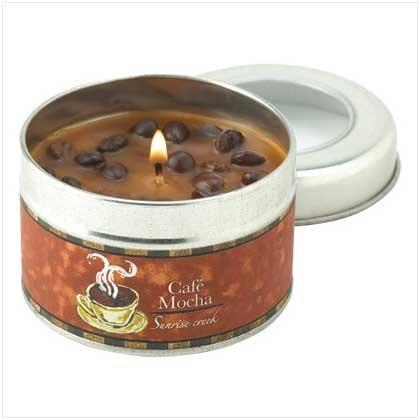 #12798 Café Mocha Scent Tin Candle