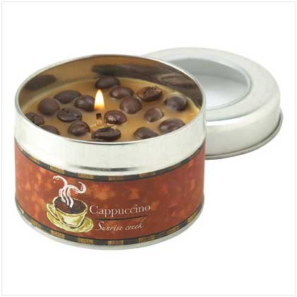 #12800 Cappuccino Scent Tin Candle