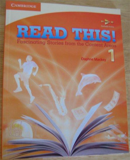 Read This! 1 ESL Reader Content Area Home School
