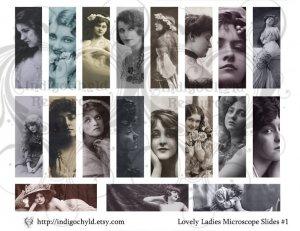 Lovely Ladies Microslide Digital Collage Sheet