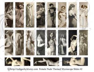 Nude Ladies Microslide Digital Collage sheet 2