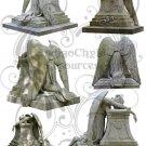 Weeping Angel Statue Digital Collage Sheet