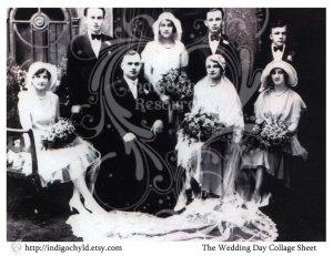 The Wedding Day Digital Collage Sheet