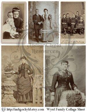 Wyrd Family Digital Collage Sheet