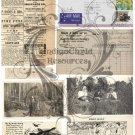 Misc. Ephemera Digital Collage Sheet 1