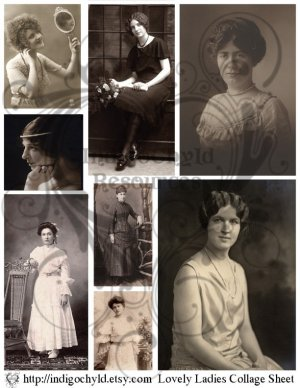 Lovely Ladies Digital Collage Sheet