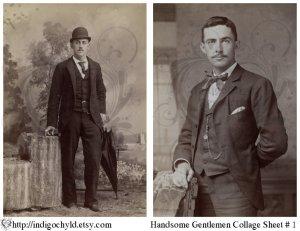 Handsome Men Digital Collage Sheet