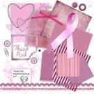 Think Pink Digital Scrapbook Kit