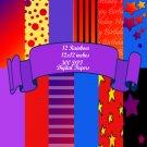 Rainbow Birthday Digital Scrapbook Kit