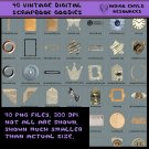 40 Digital Scrapbook Vintage Goodies