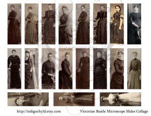 Victorian Bustle Microslide Collage Sheet