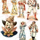 The Clowns Are In Town Digital Collage sheet