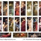 J.W.Waterhouse Microslide Digital collage sheets