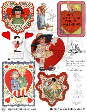 Be My Valentine Digital Collage 1