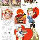 Be My Big Eyed Valentine Digital Collage sheet