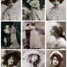 Vintage Lace Ladies Digital Collage Sheet