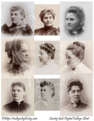 Society Gals Digital Collage Sheet