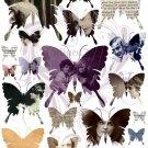 Butterfly Ephemera Digital Collage Sheet