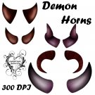 Demon Horns PNG Pack