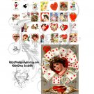 Valentines Scrabble Digital Collage
