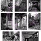 ATC/Aceo Abandoned Asylum Digital Collage Sheet