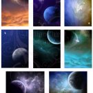 Cosmic Space ATC or ACEO Digital Collage Sheet