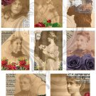 Afternoon Roses ATC/ACEO Digital Collage Sheet