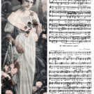 Flower Girl Sheet Music Digital Collage Sheet