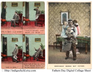 Fathers Day Digital Collage Sheet