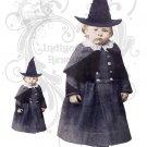 Little Myrtle the Witch JPG Digital Collage Sheet