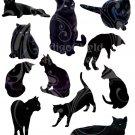 Black Cats Digital Collage Sheet JPG