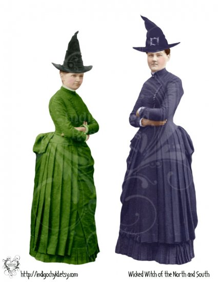 Wicked Witches of the North and South Digital JPG Collage Sheet