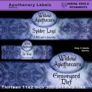 Apothecary Witch Bottle Labels PNG Pack