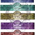 Apothecary Witch Bottle Labels JPG Collage Sheets 3 Sheets