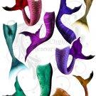 Mermaid Tails Digital Collage Sheet pdf
