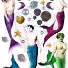 Mermaid Queens Digital Collage Sheet PDF