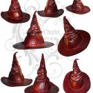Red Leather Witch Hat Collage Sheet JPG