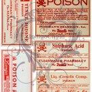 Poison Labels Digital Collage Sheet JPG