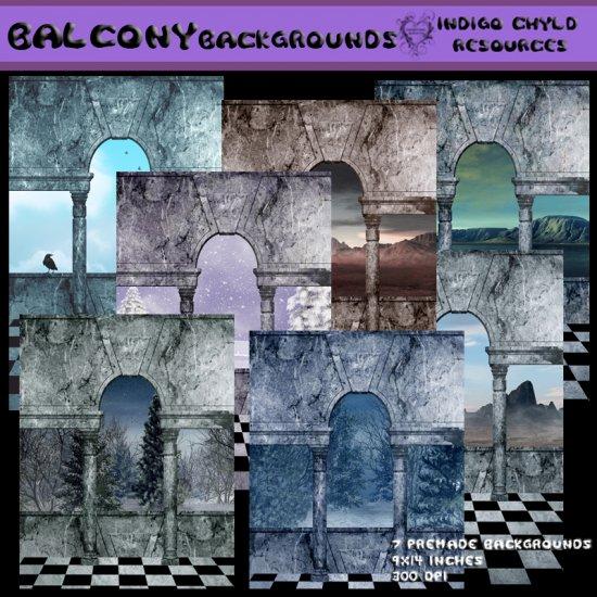 Premade Balcony Backgrounds