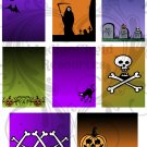 Halloween Toon ATC ACEO Digital Collage Sheet Bases PDF