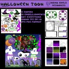 Halloween Toon Digital Scrapbook Kit