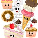 Kawaii Sweets Digital Collage Sheet JPG