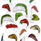 Elf Hats Digital Collage Sheet JPG
